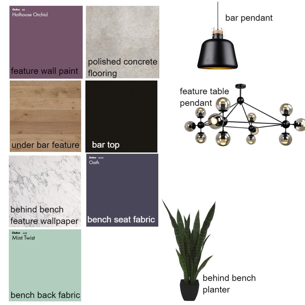 Purple & Black Interior Design Mood Board by FrankstonBrewhouse on Style Sourcebook