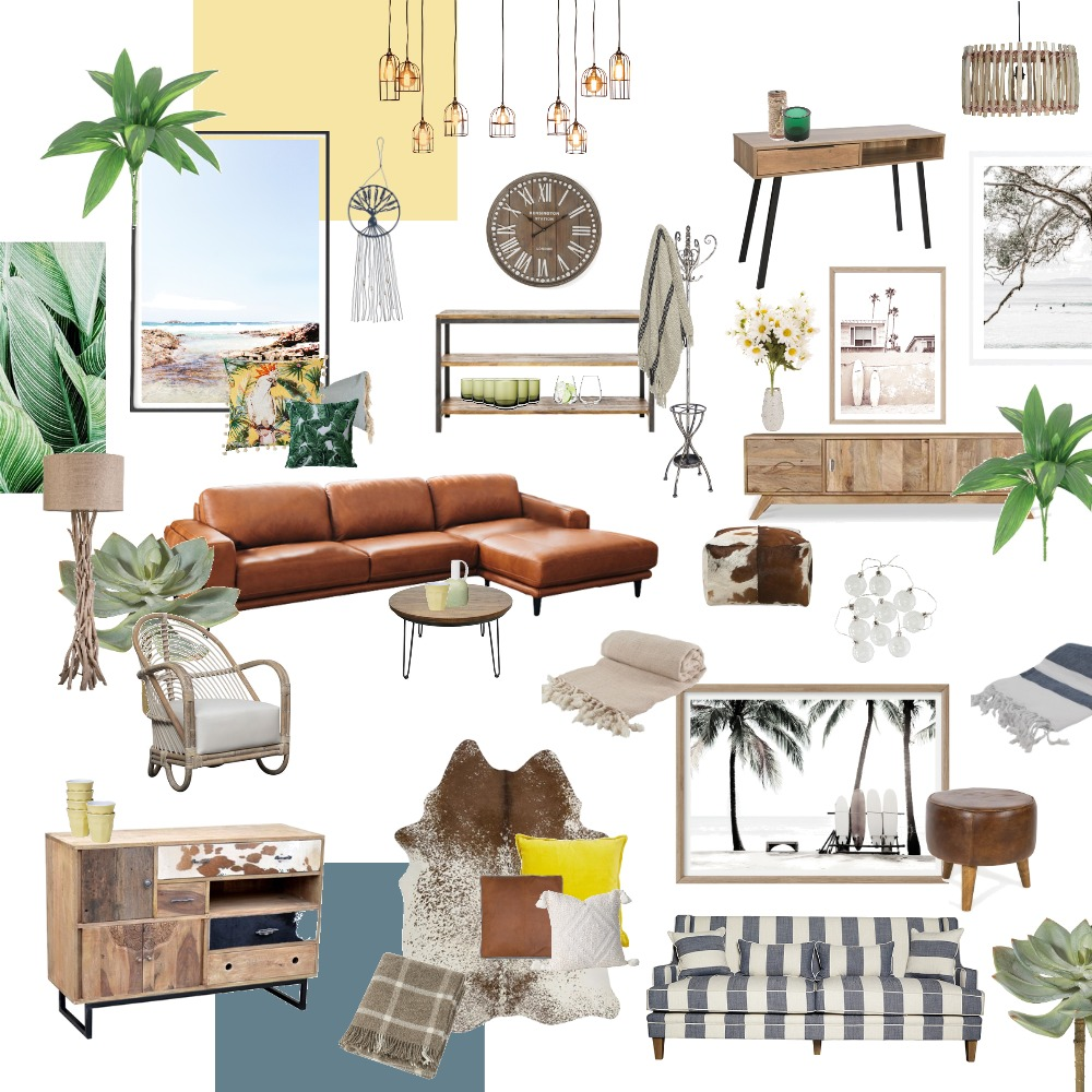 Beachy Living Room Interior Design Mood Board by georgiepie on Style Sourcebook