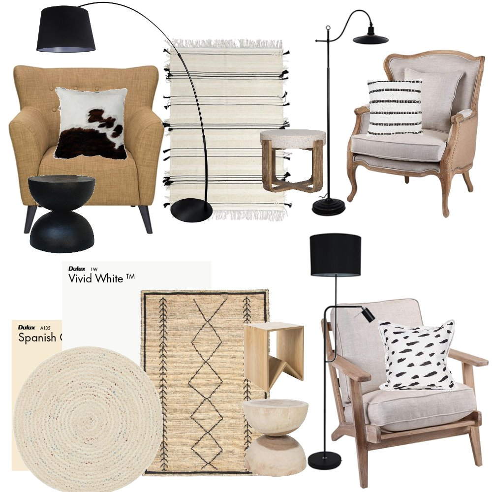Reading nook Interior Design Mood Board by Sidehustleprojects on Style Sourcebook