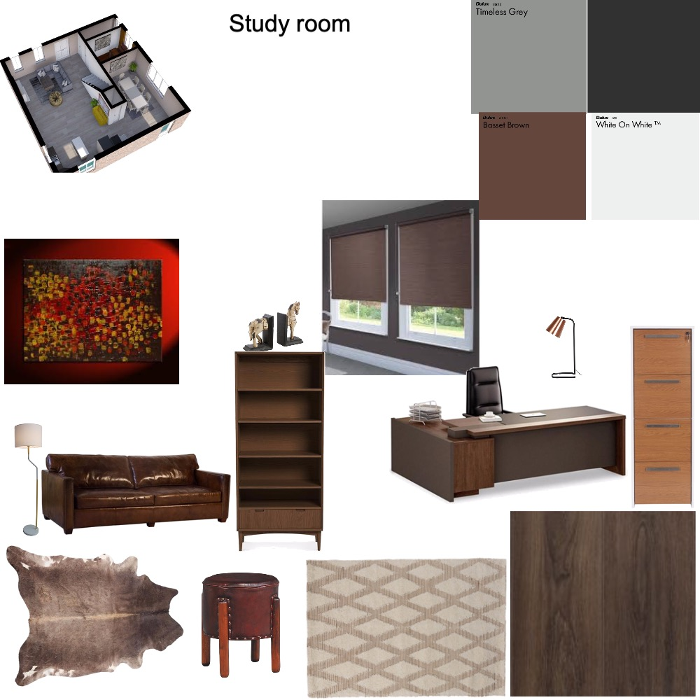 study room Interior Design Mood Board by ALIONA on Style Sourcebook
