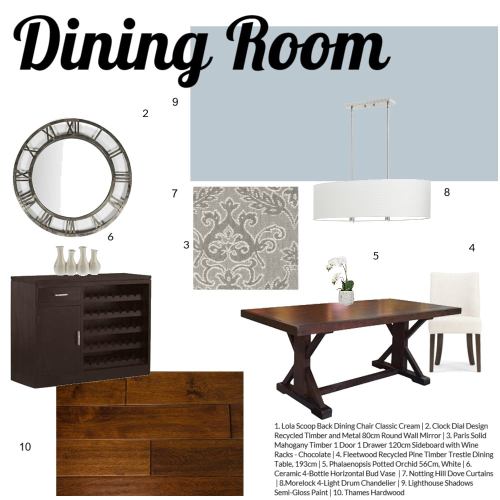 Dining Room Assignment 9 Interior Design Mood Board by JessicaQuinn on Style Sourcebook