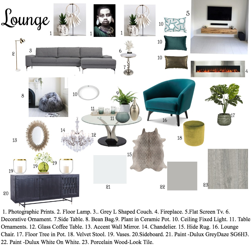 assignment 9 Interior Design Mood Board by Mpho on Style Sourcebook