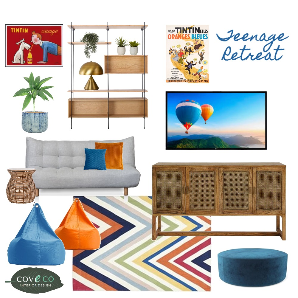Teenage Retreat Interior Design Mood Board by Coveco Interior Design on Style Sourcebook