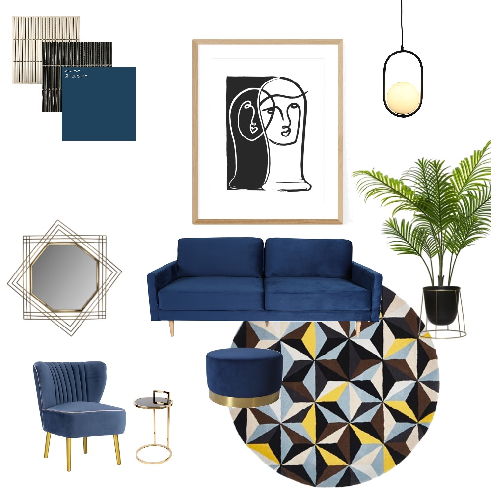 Art Deco lounge art lovers Interior Design Mood Board by Simplestyling on Style Sourcebook