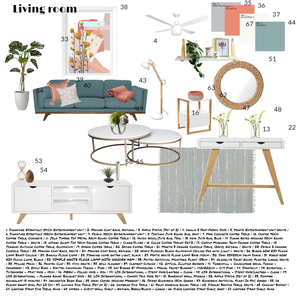 LIVING ROOM ASS 9 Interior Design Mood Board by lyndee on Style Sourcebook