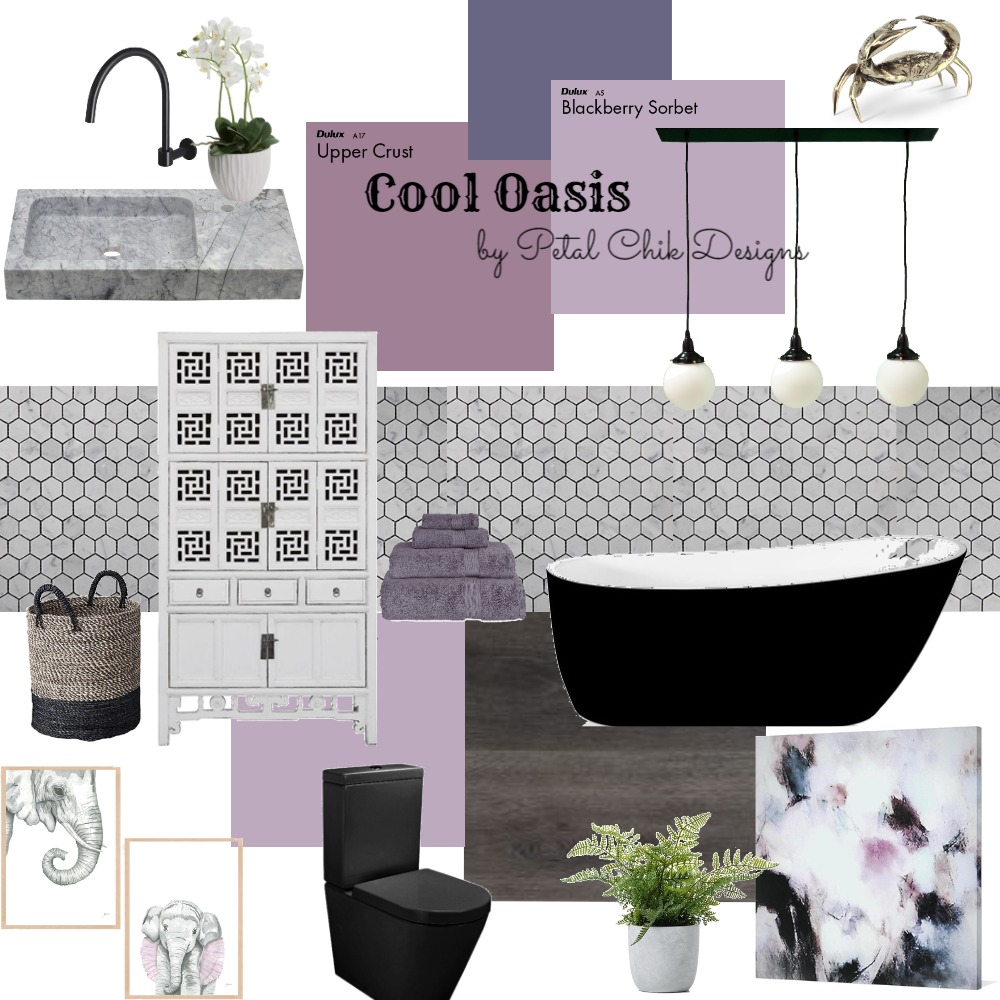 Cool Oasis Interior Design Mood Board by petalchikdesigns on Style Sourcebook