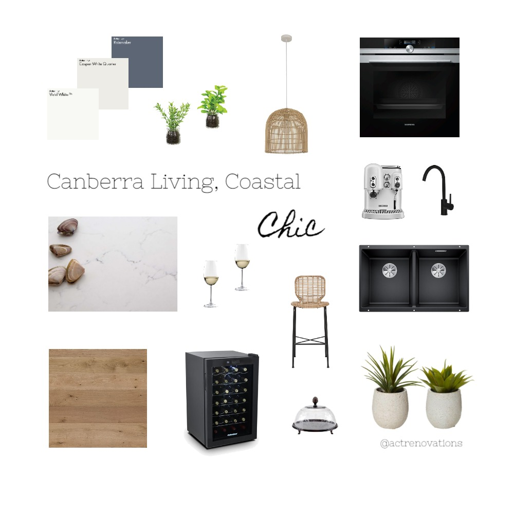 Coastal Chic kitchen for Canberra living Interior Design Mood Board by ACTRenovations on Style Sourcebook