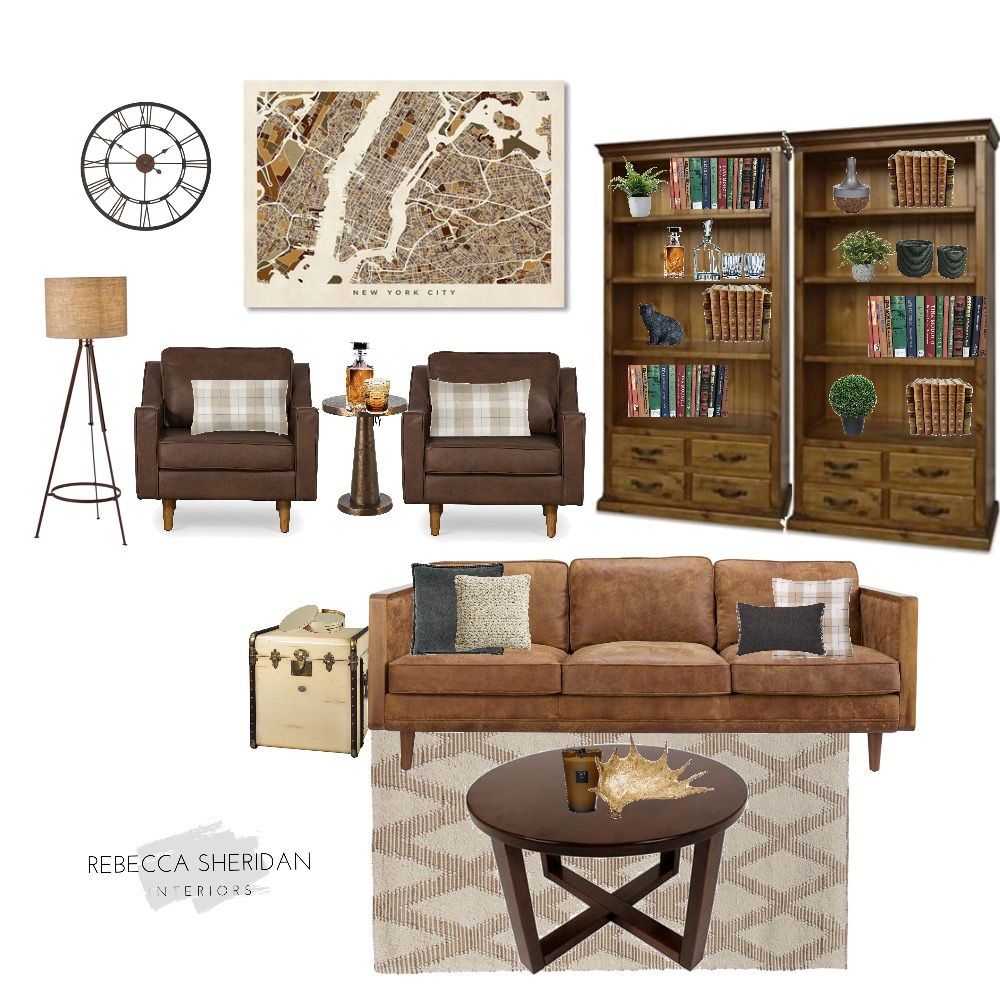 Old world Contemporary  Lounge Interior Design Mood Board by Rebecca Sheridan Interiors on Style Sourcebook