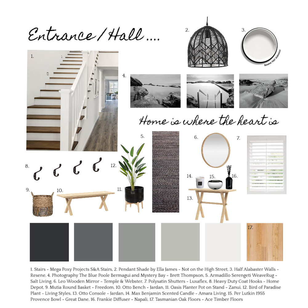 Entrance / Hall Interior Design Mood Board by Lucy on Style Sourcebook