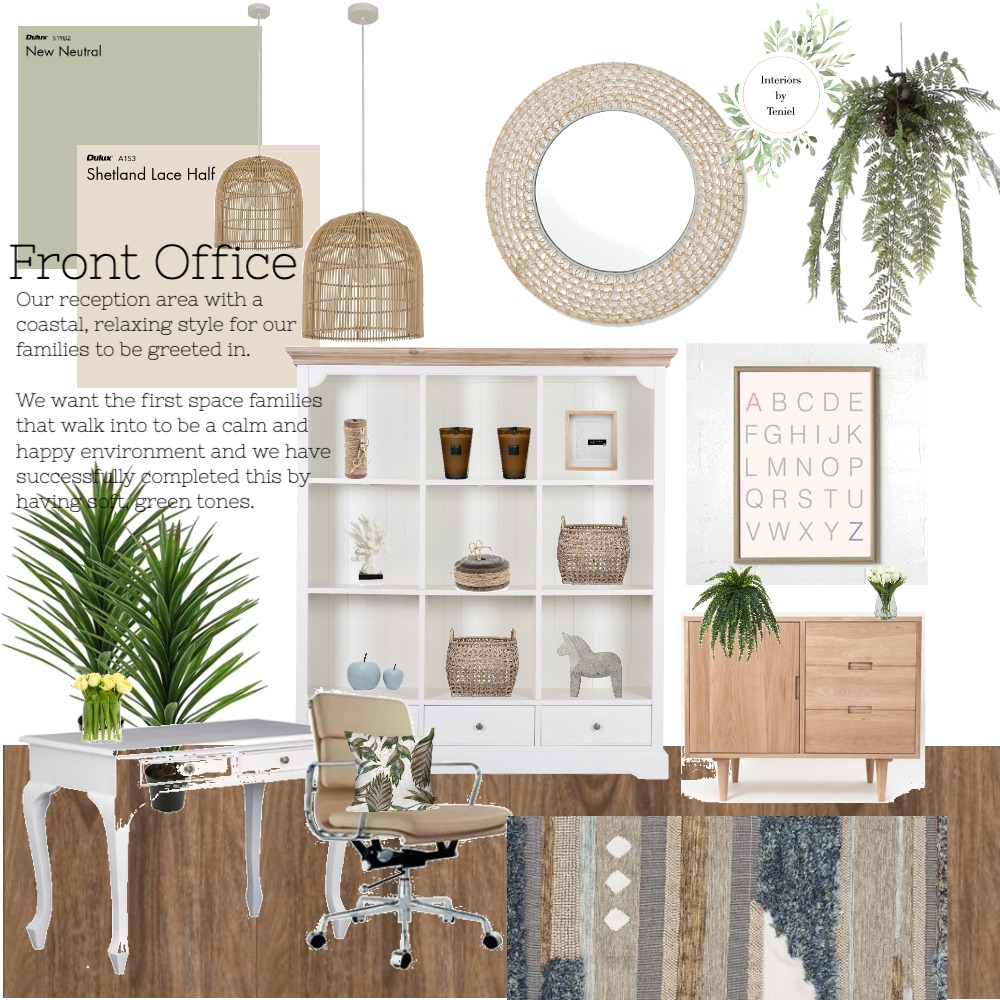 Front Office Interior Design Mood Board by Interiors by Teniel on Style Sourcebook