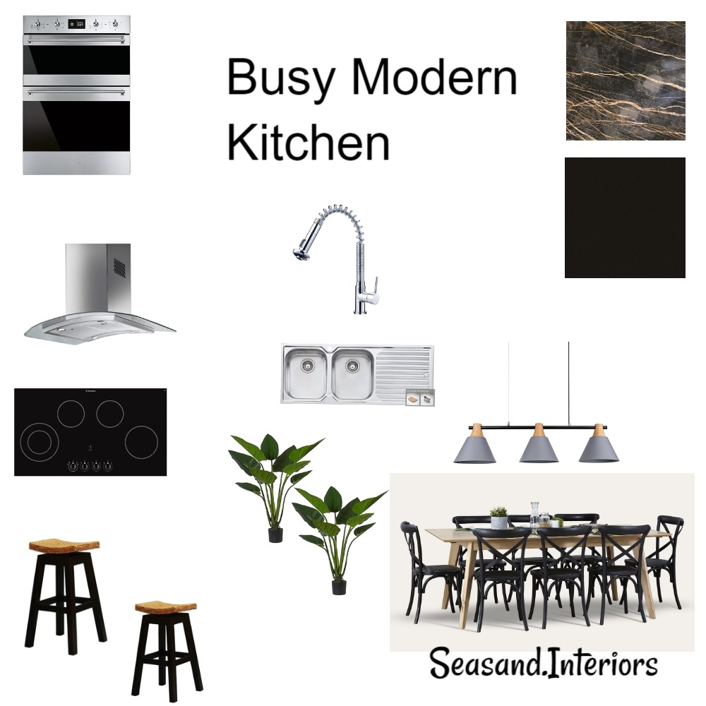 Busy Modern Kitchen Interior Design Mood Board by Seasand.interiors on Style Sourcebook