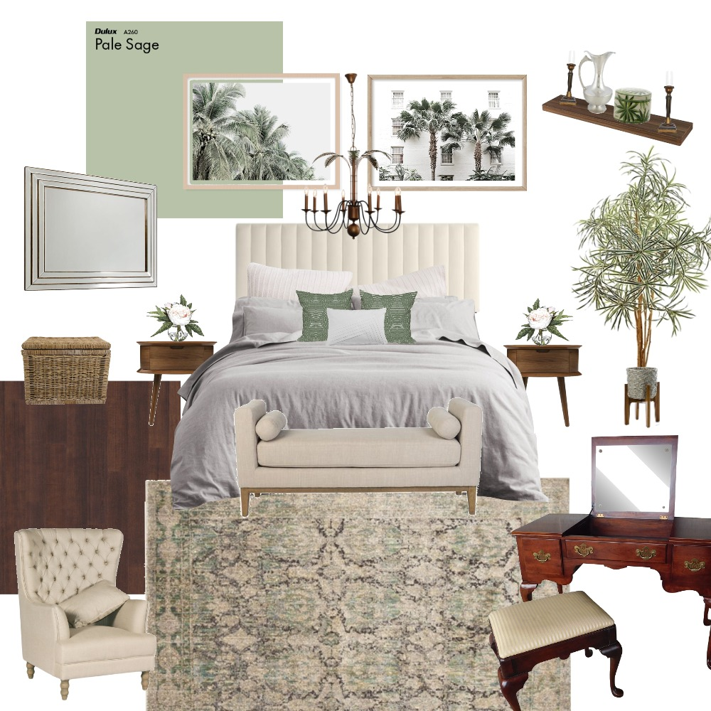 Tropical Modern Queen Interior Design Mood Board by The Inner Collective on Style Sourcebook