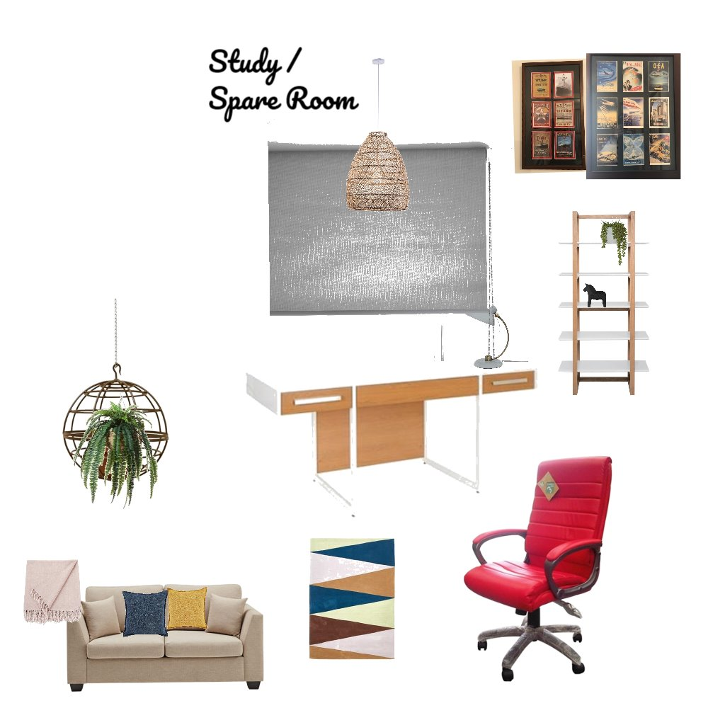 Study / Spare room Interior Design Mood Board by markh on Style Sourcebook