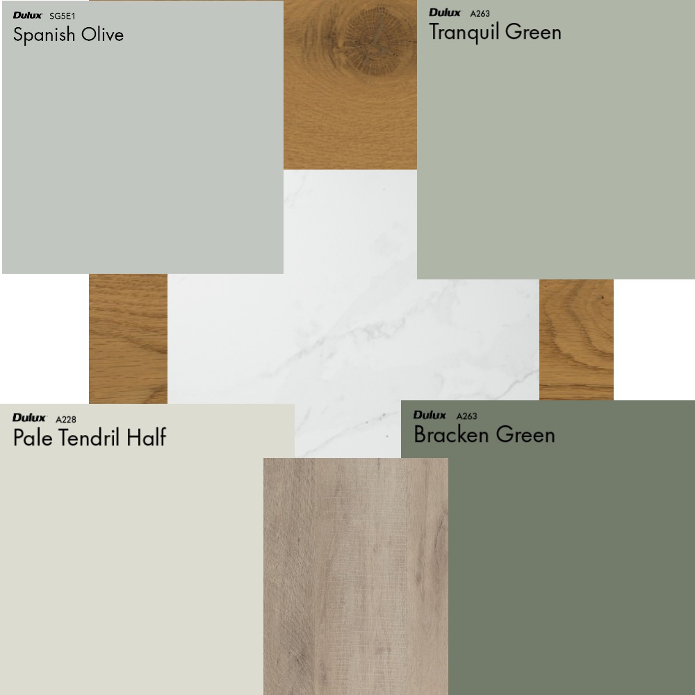 Green kitchen cabin Interior Design Mood Board by AngelaRae on Style Sourcebook