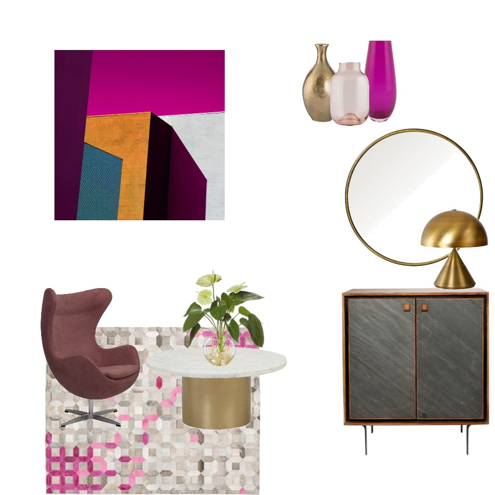 Mid Century Luxe sitting room Interior Design Mood Board by Simplestyling on Style Sourcebook