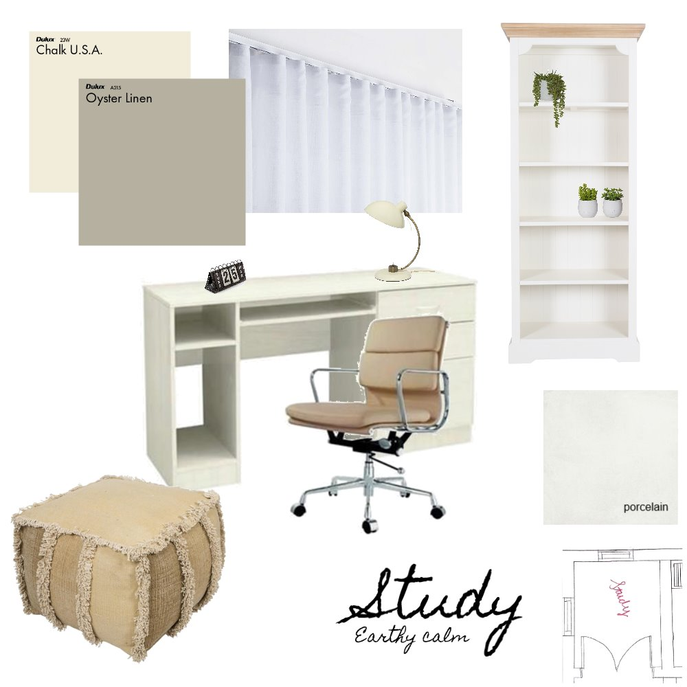 earthy study Interior Design Mood Board by lynettedutoit on Style Sourcebook