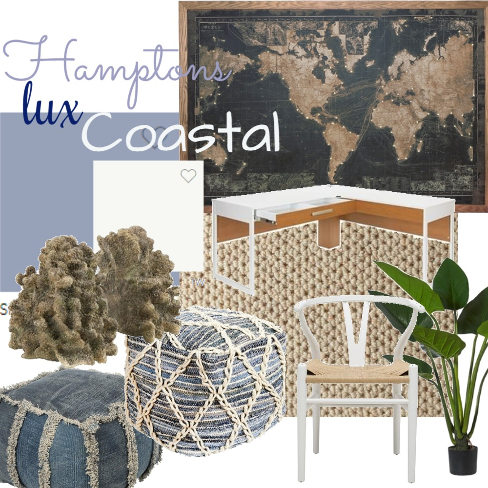 Office Hamptons coastal Interior Design Mood Board by Jadeos on Style Sourcebook