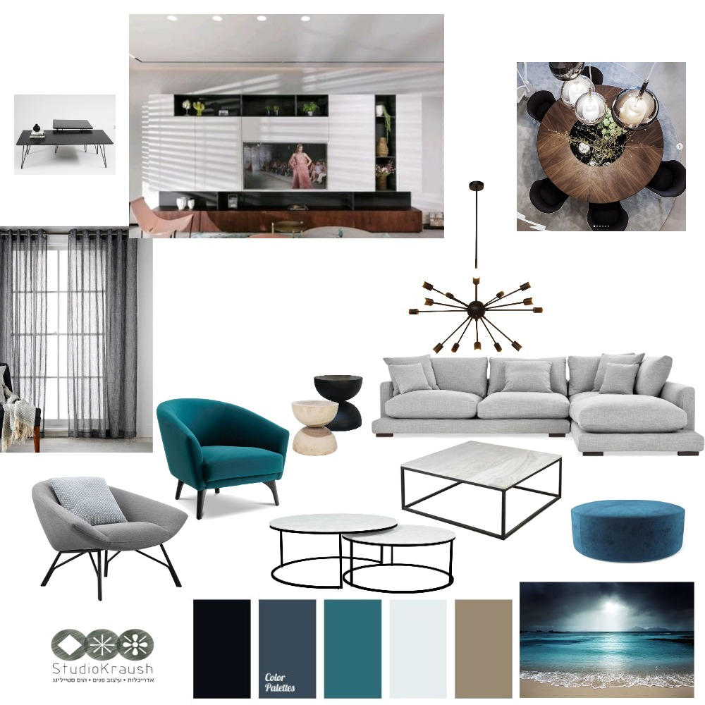 natural blue Interior Design Mood Board by veredkraush on Style Sourcebook