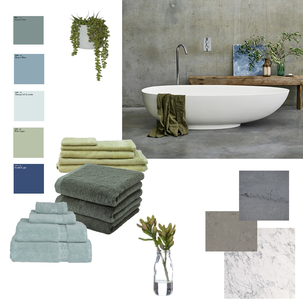 Bathroom Stone Interior Design Mood Board by CharlieBe on Style Sourcebook