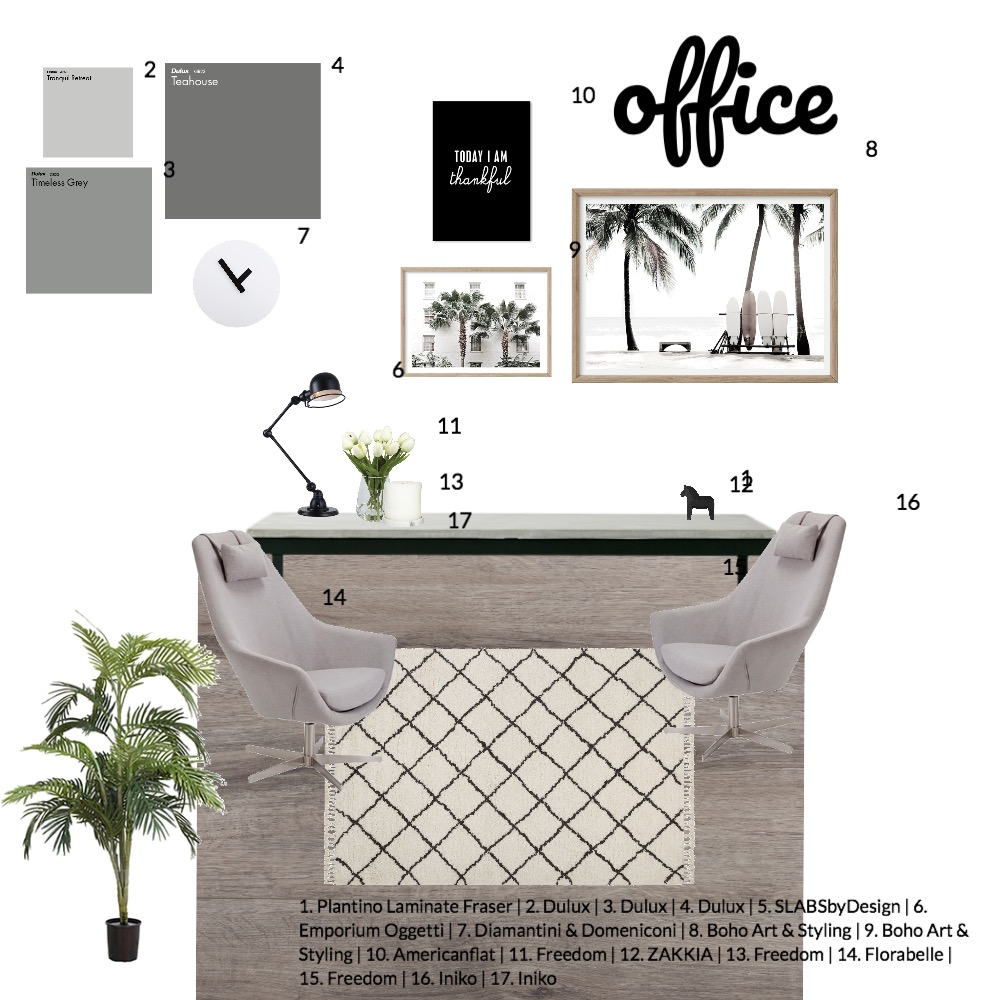 office Interior Design Mood Board by amberbothamley on Style Sourcebook