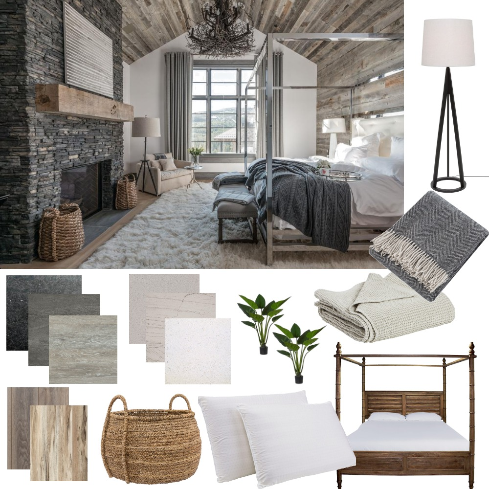 Moody bedroom Interior Design Mood Board by CharlieBe on Style Sourcebook