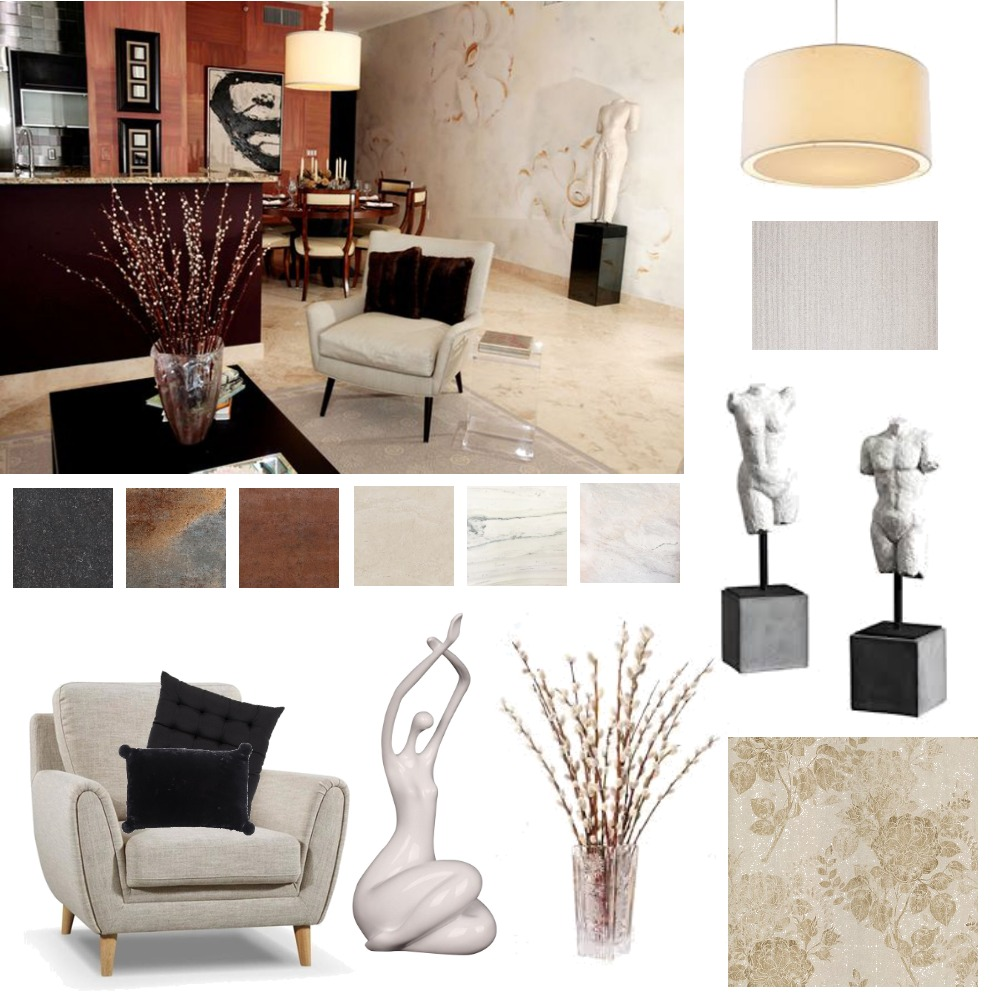 Black and Rust Interior Design Mood Board by CharlieBe on Style Sourcebook