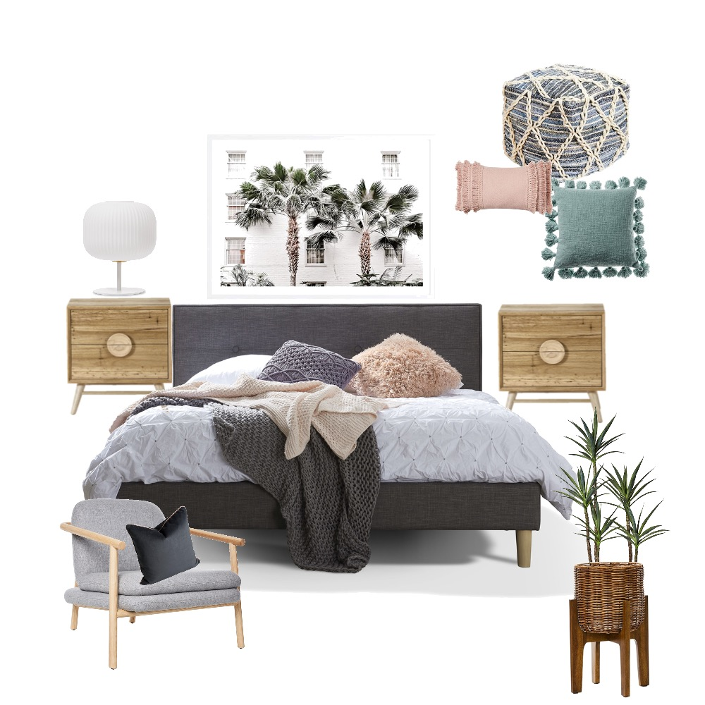Bedroom for Peter Interior Design Mood Board by Gold Chalk Interior Styling on Style Sourcebook