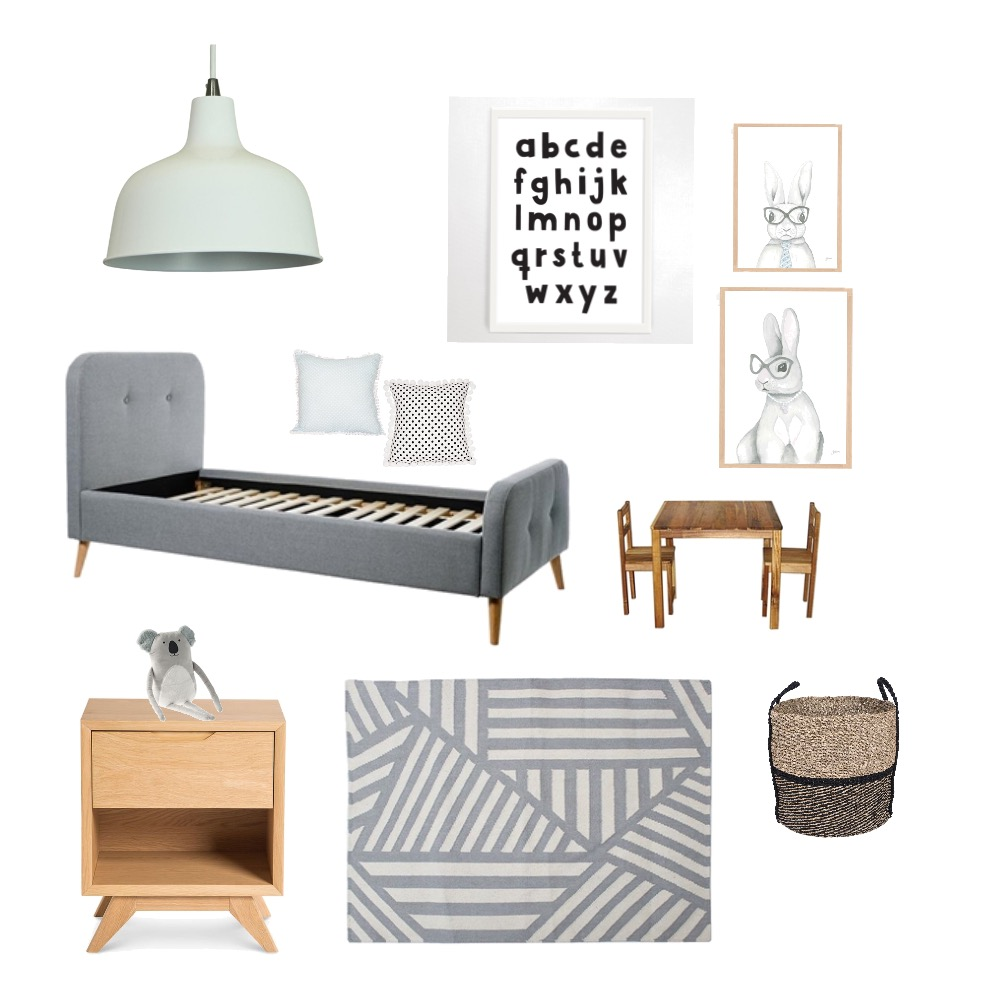 Oscars bedroom Interior Design Mood Board by Shell on Style Sourcebook
