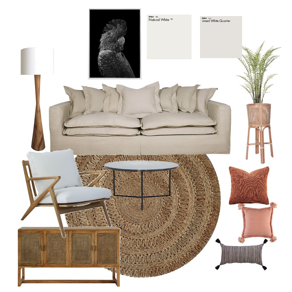 Simone's living room Interior Design Mood Board by Gold Chalk Interior Styling on Style Sourcebook