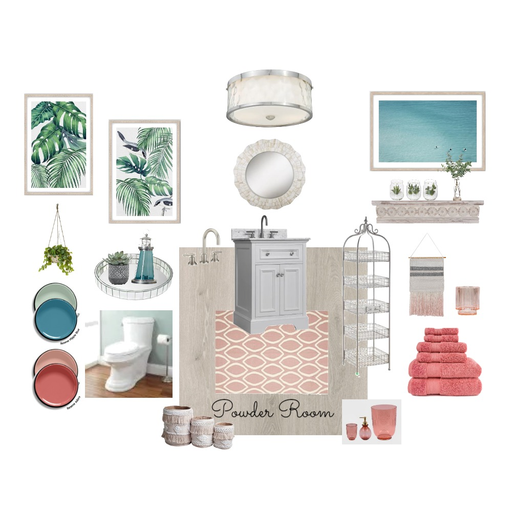 Module 9 Powder Room Interior Design Mood Board by MaryKay on Style Sourcebook