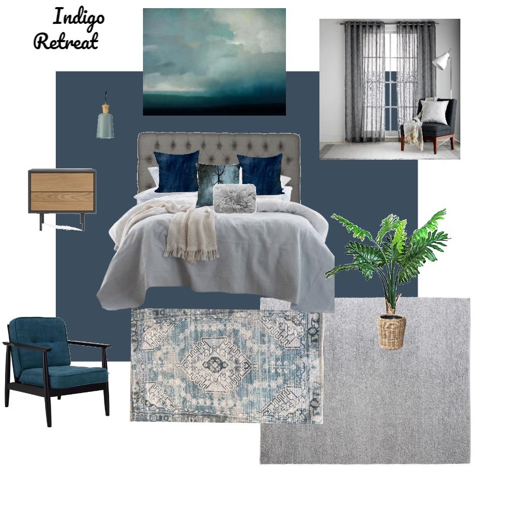 indigo retreat bedroom Interior Design Mood Board by Chrissy on Style Sourcebook