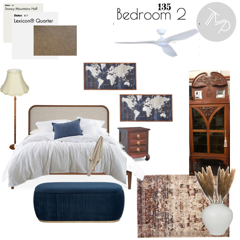 135 Bedroom 2 Interior Design Mood Board by Emily Mills on Style Sourcebook