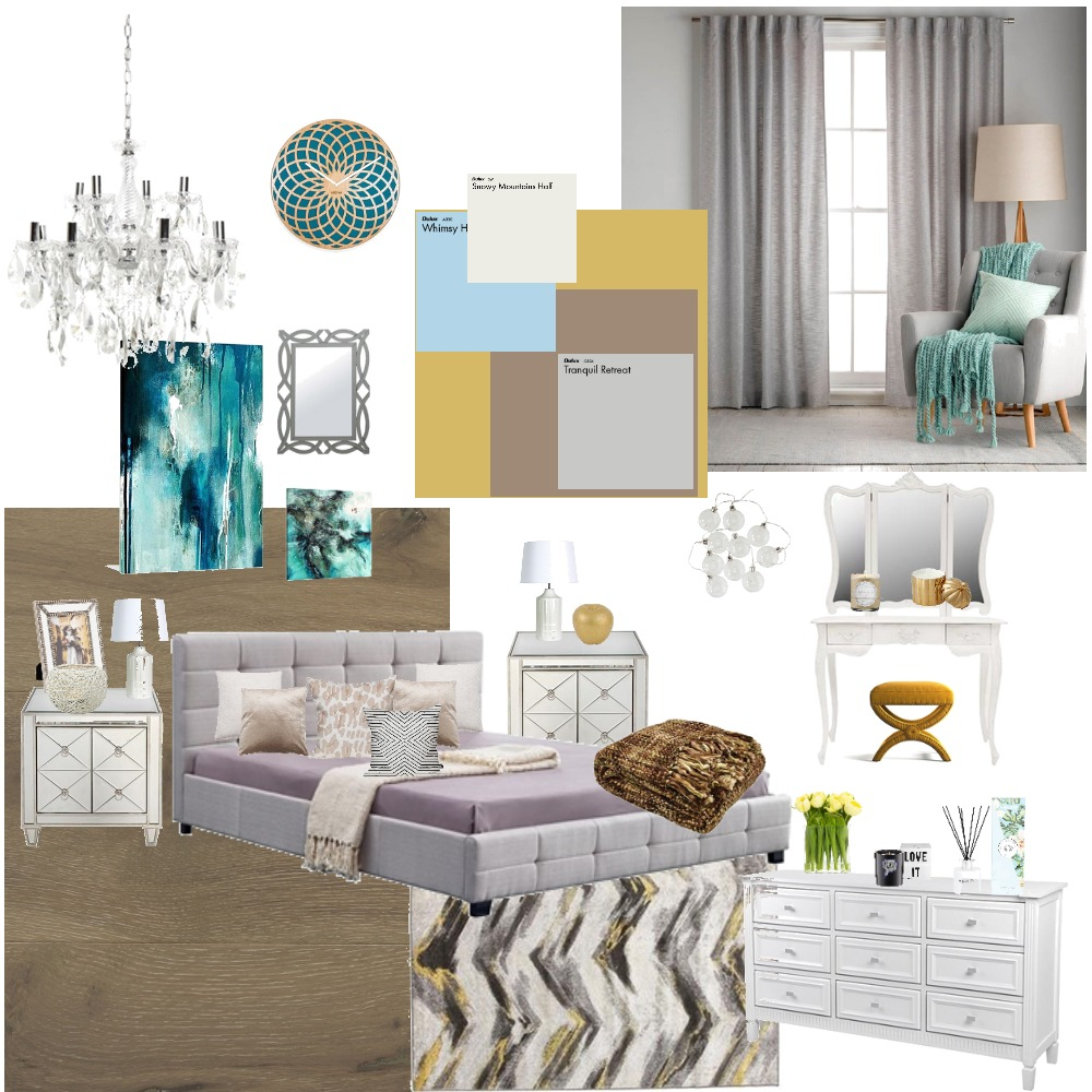 Master Bedroom Interior Design Mood Board by ronakdoshi on Style Sourcebook