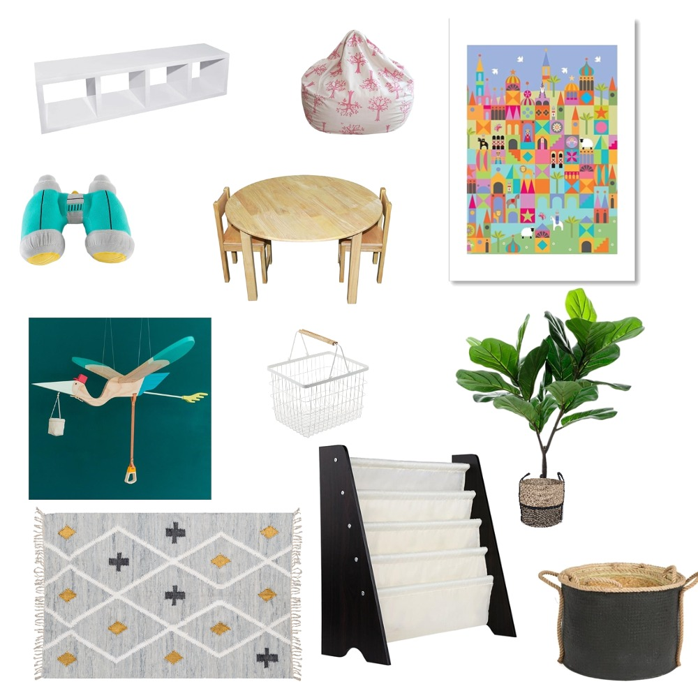 Playroom Products - The essentials Interior Design Mood Board by brightboxsolutions on Style Sourcebook