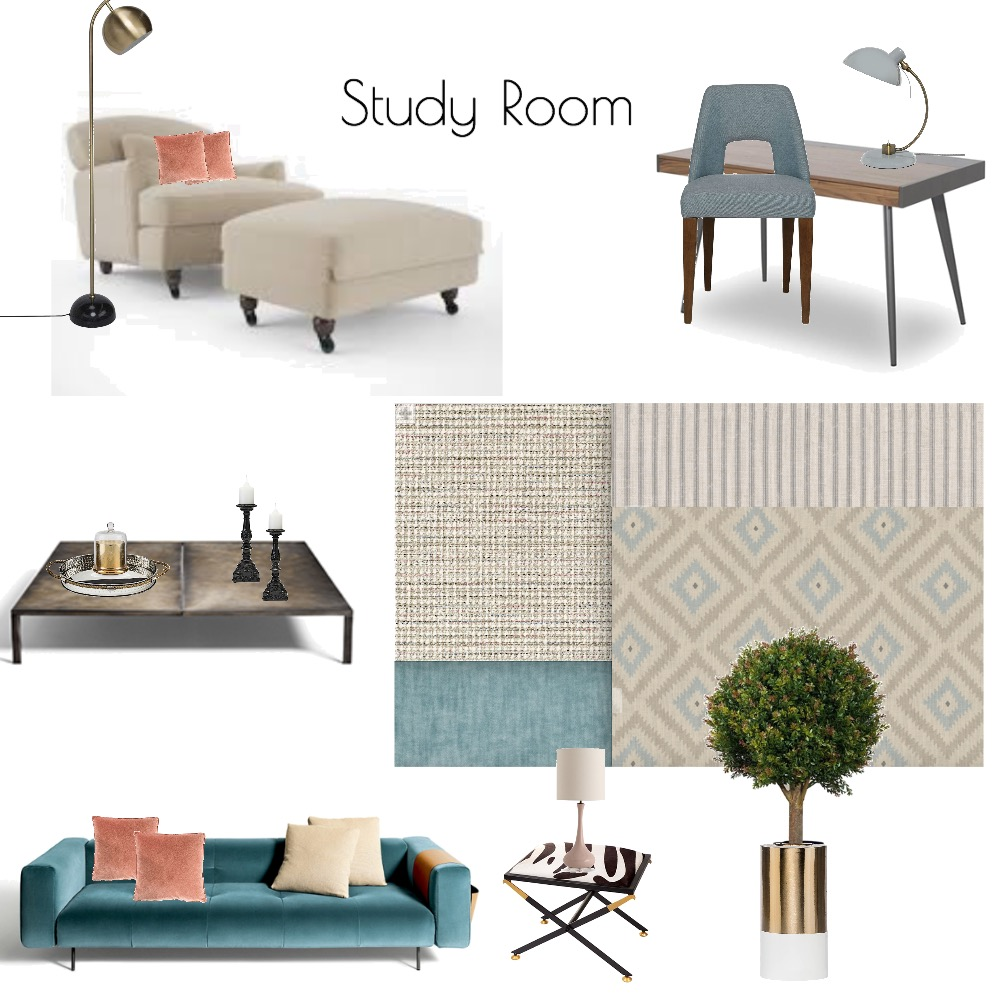 Study Interior Design Mood Board by MCINTERIORS on Style Sourcebook