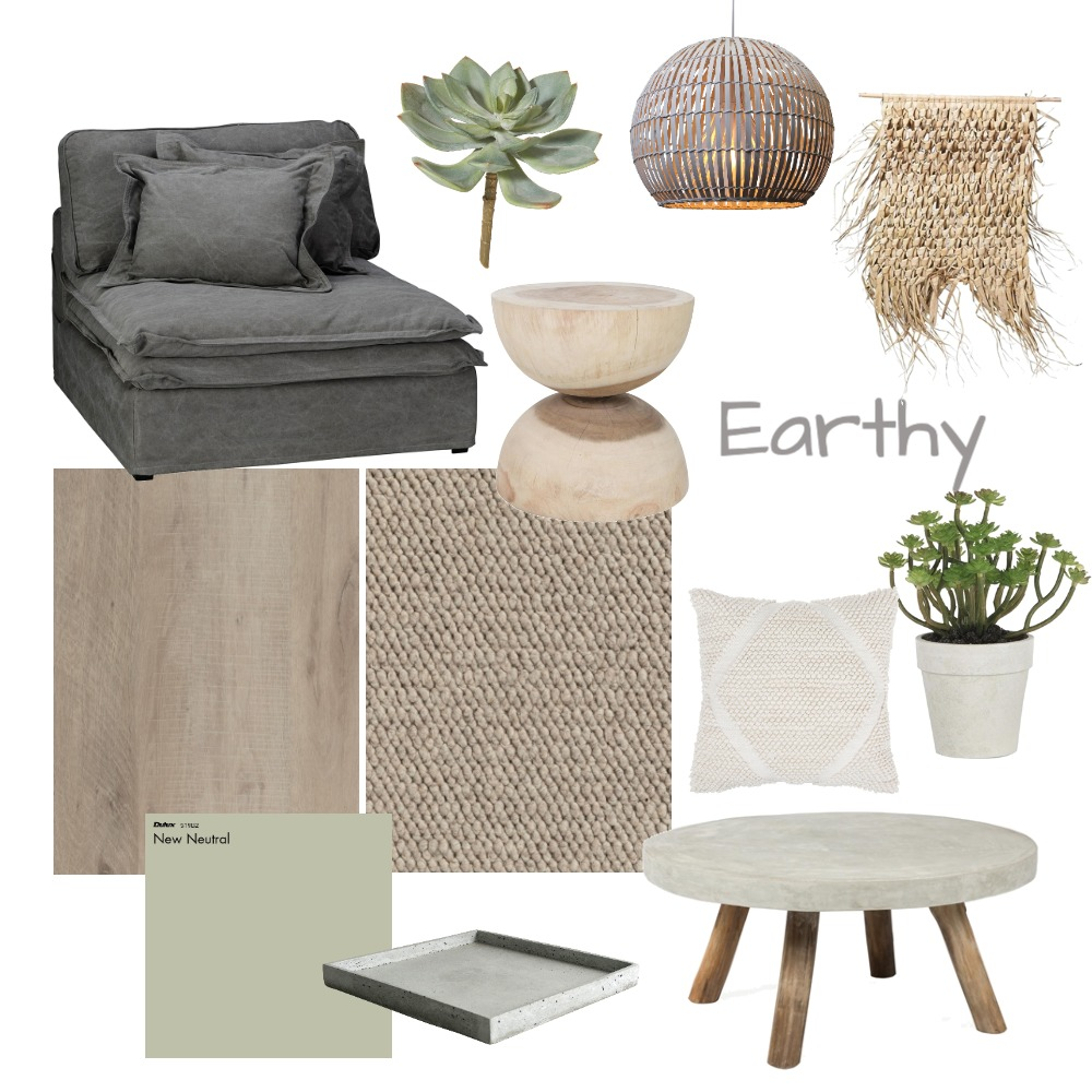 Earthy Living Room Interior Design Mood Board by Choices Flooring on Style Sourcebook