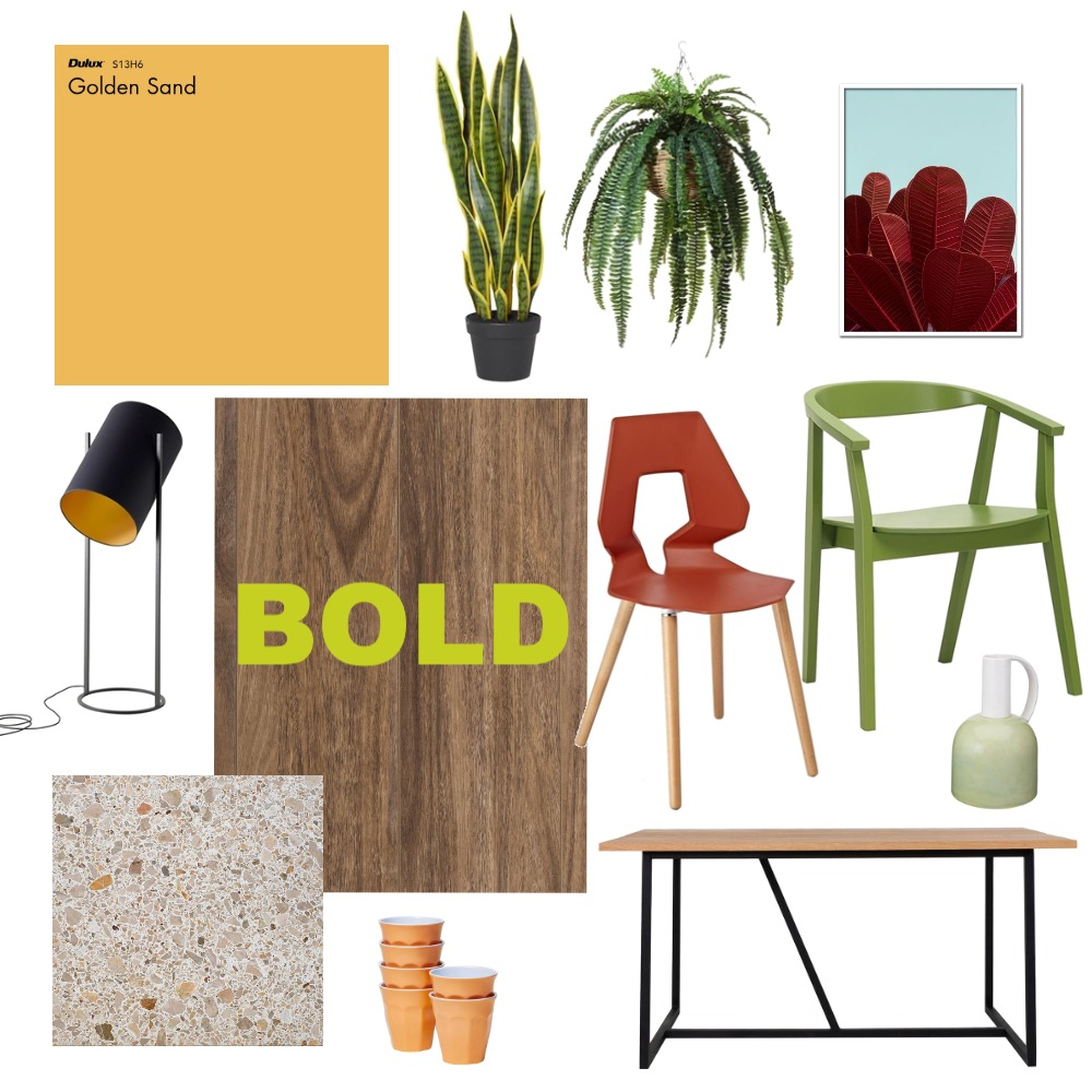 Bold Dining Room Interior Design Mood Board by Choices Flooring on Style Sourcebook