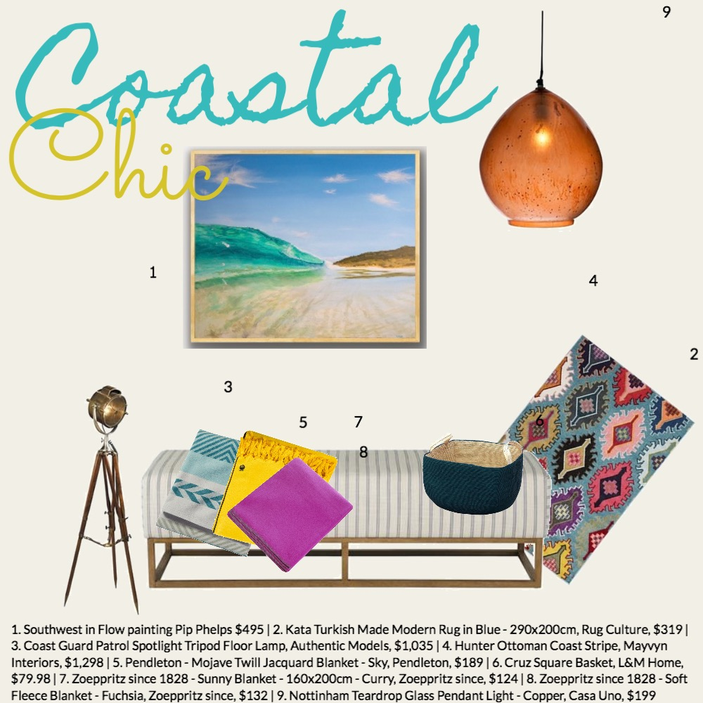 Coastal Chic Interior Design Mood Board by pipphelps.com.au on Style Sourcebook