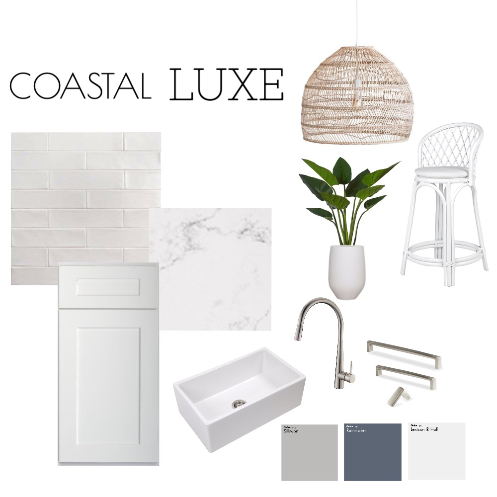 Coastal Luxe Kitchen Interior Design Mood Board by Olguin Design on Style Sourcebook