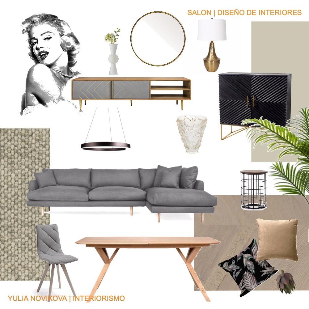 Salon | Eclectic Style | Elegant Grey Interior Design Mood Board by YNdesign | Online Interior Design on Style Sourcebook