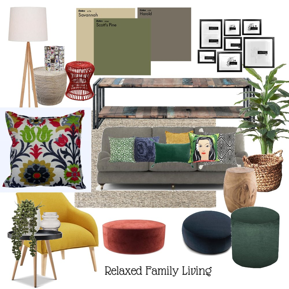 Living Room Interior Design Mood Board by CJGDesign on Style Sourcebook