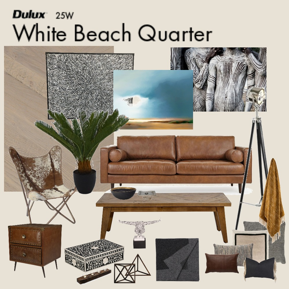 Bachelor Pad Living Interior Design Mood Board by Jo Laidlow on Style Sourcebook