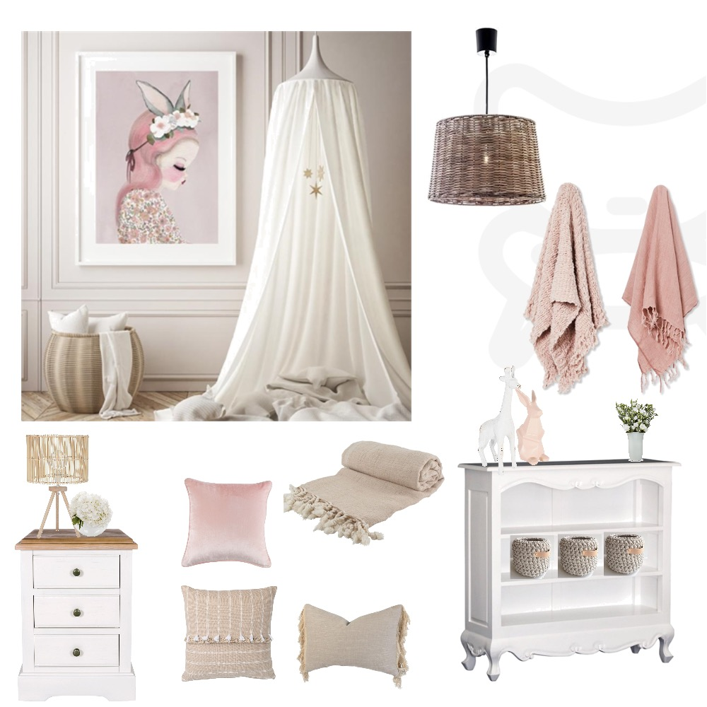 Pink Forest Girls Bedroom Interior Design Mood Board by My Interior Stylist on Style Sourcebook