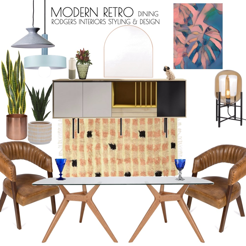 Modern Retro Interior Design Mood Board by Rodgers Interiors Styling & Design on Style Sourcebook