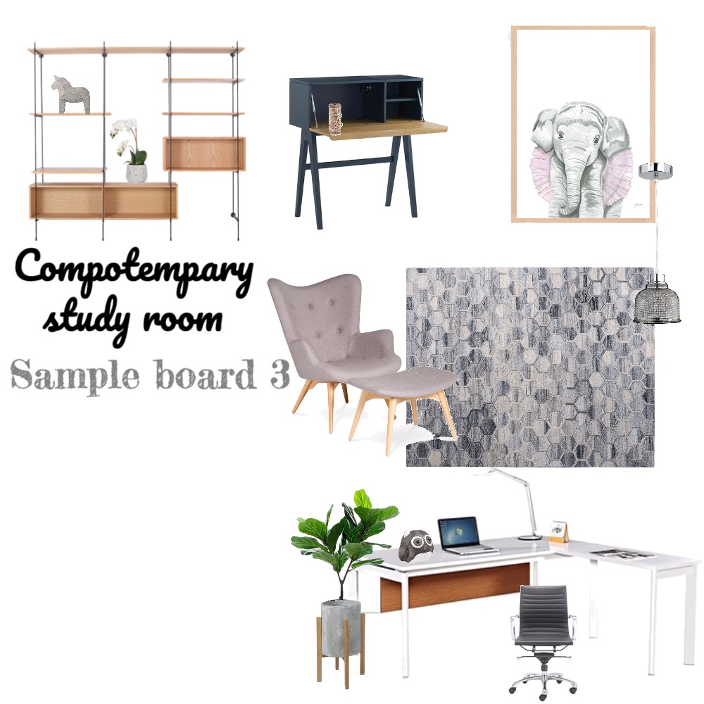 study room Interior Design Mood Board by VinTruong on Style Sourcebook