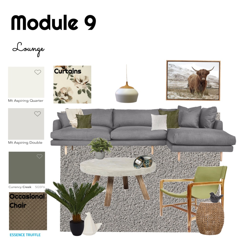 Module 9 Lounge Interior Design Mood Board by Megs on Style Sourcebook