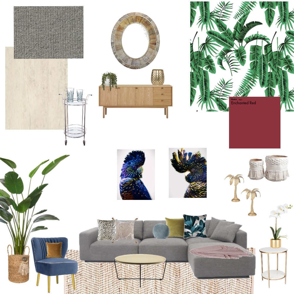 Tropical Luxe Interior Design Mood Board by KateRutherfordStyling on Style Sourcebook