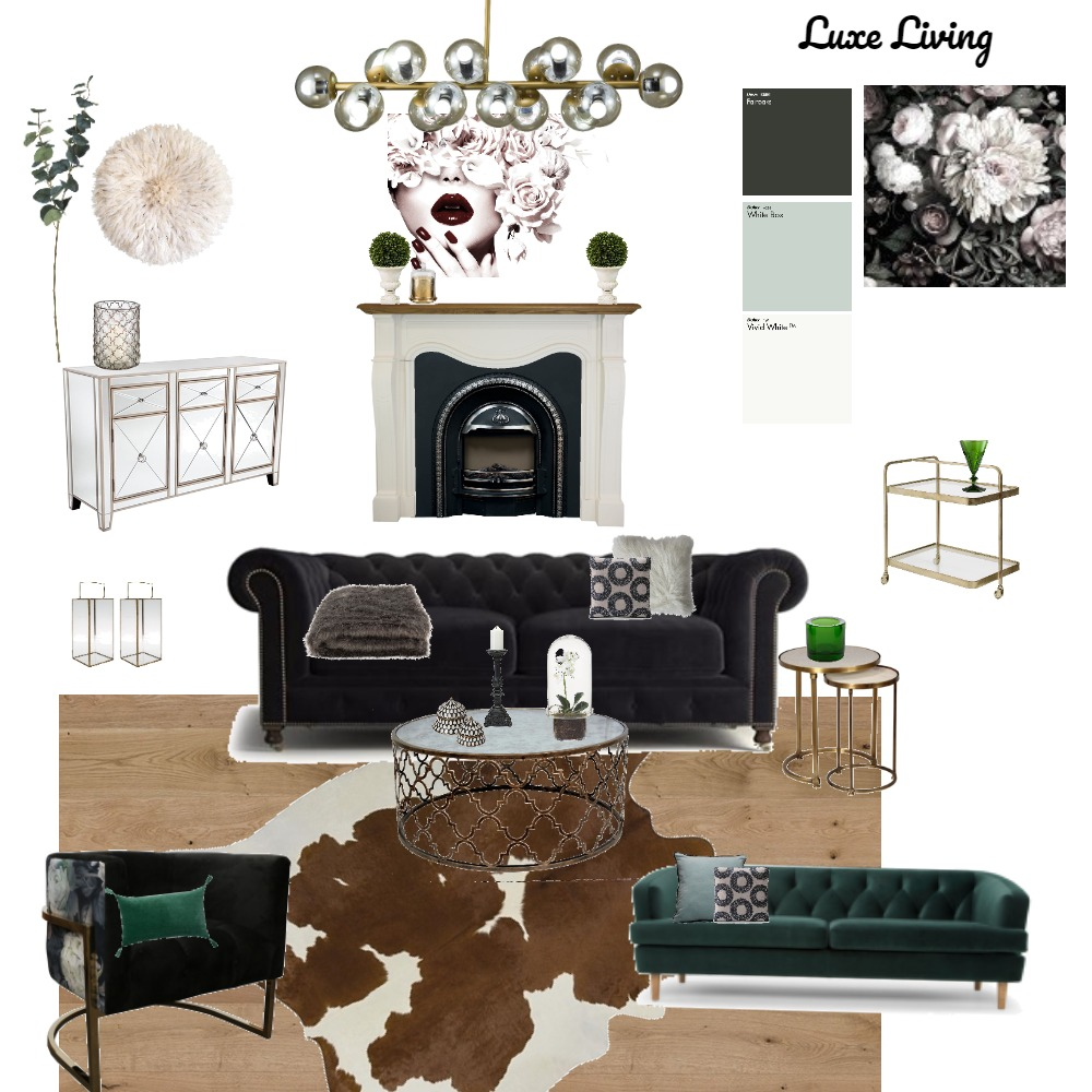 Living Room Interior Design Mood Board by Studio 33 on Style Sourcebook