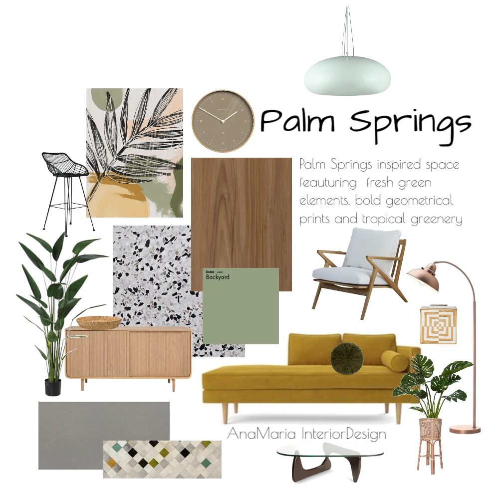 Palm Springs Mood Board by Ana Maria Jurado on Style Sourcebook