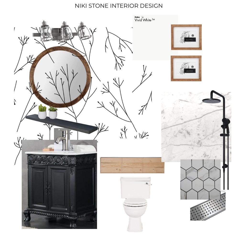 Fresh & Modern Farmhouse Bathroom Mood Board by NikiStone on Style Sourcebook